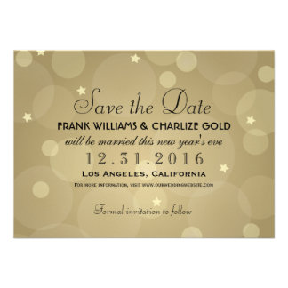 New Year's Eve Wedding Save the Date | Flat Card