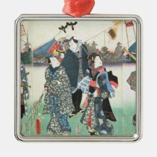 New Year's festival, Silver-Colored Square Decoration