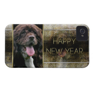 New Years - Golden Elegance - Cocker Spaniel Case-Mate iPhone 4 Cases