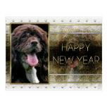 New Years - Golden Elegance - Cocker Spaniel Postcard
