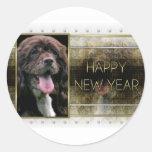 New Years - Golden Elegance - Cocker Spaniel Sticker