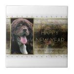 New Years - Golden Elegance - Cocker Spaniel Ceramic Tiles