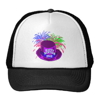New Year's Hat And Fire Works Hat