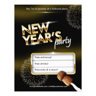 New Years party flyer - fully customizable