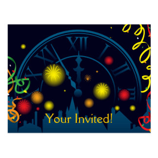 New Years Party Invite Postcard