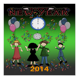 "New Year's Party Poster 20""x20"""