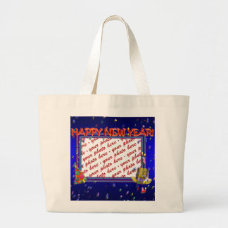 New Year's Photo Frame Canvas Bags