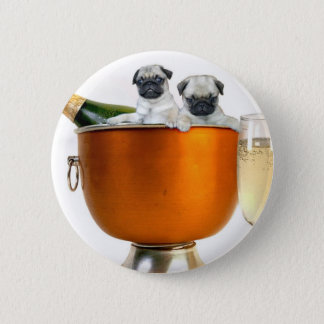 New Years pugs button