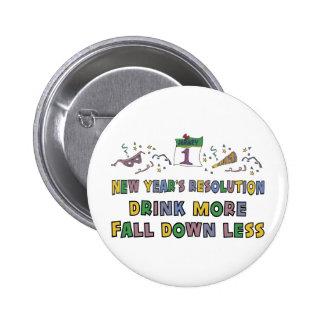 New Year's Resolution 6 Cm Round Badge