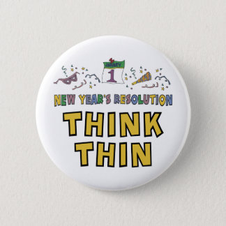 New Years Resolution 6 Cm Round Badge