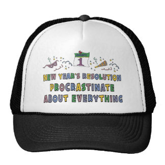 New Years Resolution Cap