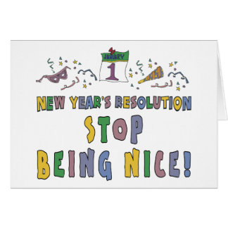 New Years Resolution Cards