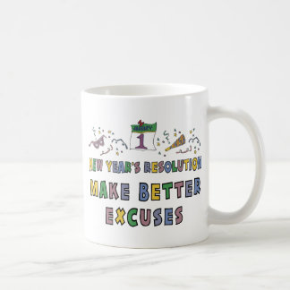 New Years Resolution Coffee Mugs