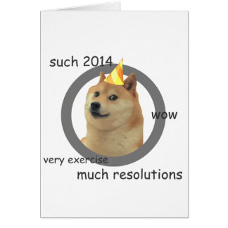 New Years Resolution Doge Greeting Card