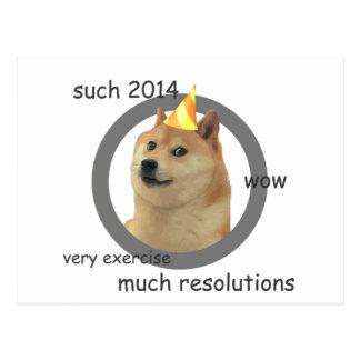 New Years Resolution Doge Postcard
