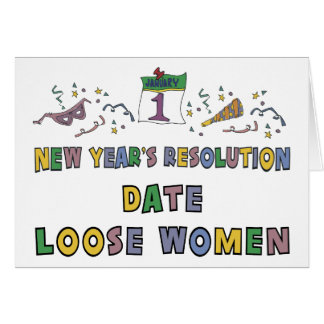 New Years Resolution Greeting Card