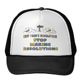 New Years Resolution Hat