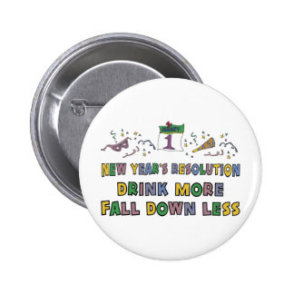 New Year's Resolution Pinback Buttons