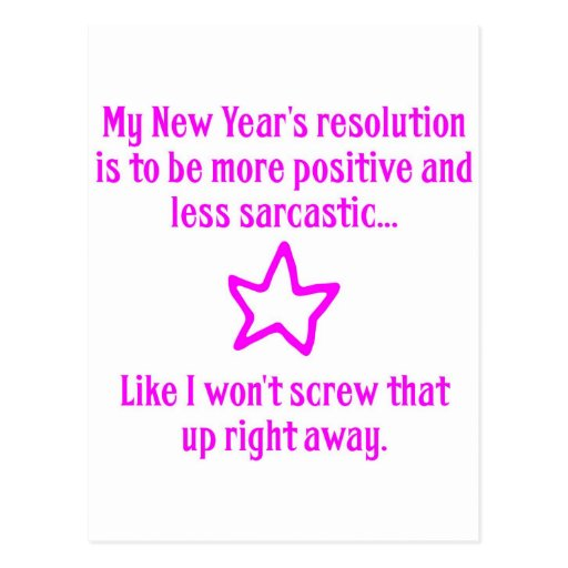 New Year's Resolution Post Cards