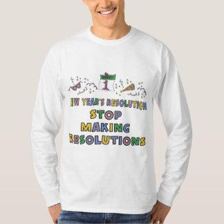 New Years Resolution Tee Shirts