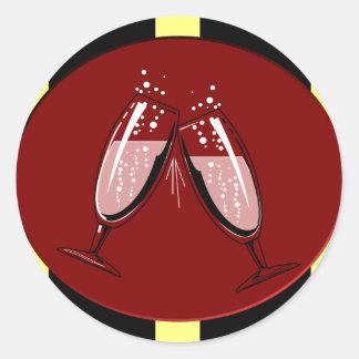 New Year's Toast Classic Round Sticker