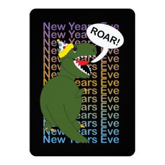 New Years Tyrannosaurus Rex Dinosaur 13 Cm X 18 Cm Invitation Card