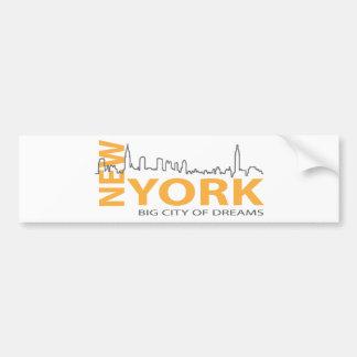 New_York4 Bumper Sticker