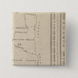 New York 11 15 Cm Square Badge