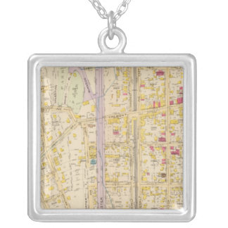 New York 13 Silver Plated Necklace