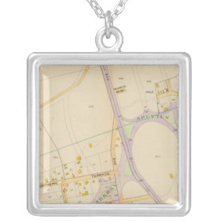 New York 14 Silver Plated Necklace