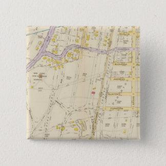 New York 16 15 Cm Square Badge