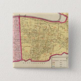 New York 18 15 Cm Square Badge