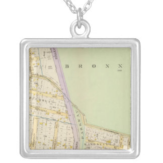 New York 19 Silver Plated Necklace