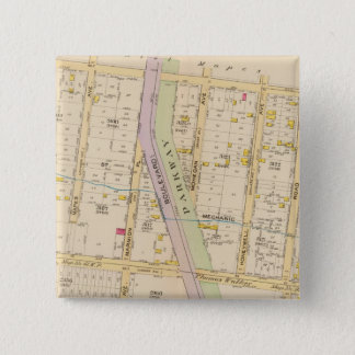 New York 20 15 Cm Square Badge