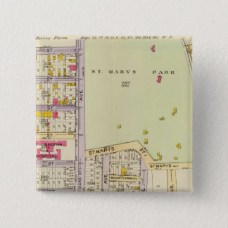 New York 25 15 Cm Square Badge