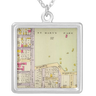 New York 25 Silver Plated Necklace