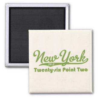 New York 26 2 Green Marathon Button Refrigerator Magnet