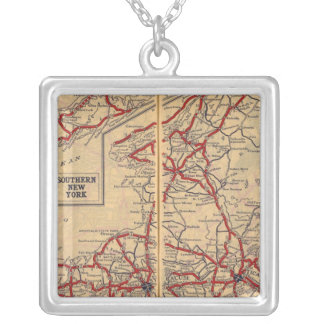 New York 28 Silver Plated Necklace