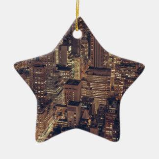 New York 2 Ceramic Star Decoration