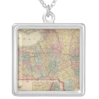 New York 2 Silver Plated Necklace