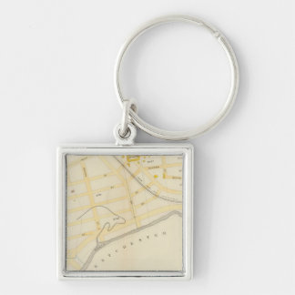 New York 31 Silver-Colored Square Key Ring