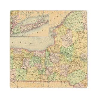 New York 31 Wood Coaster