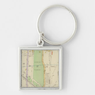 New York 37 Silver-Colored Square Key Ring