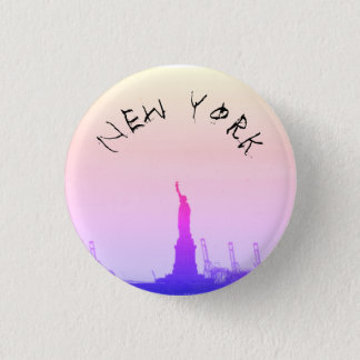 New York 3 Cm Round Badge