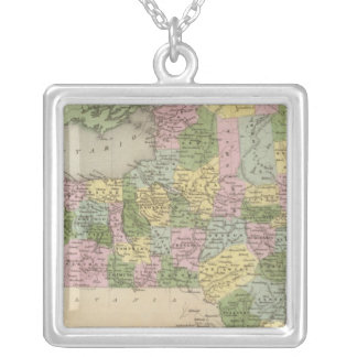 New York 3 Silver Plated Necklace