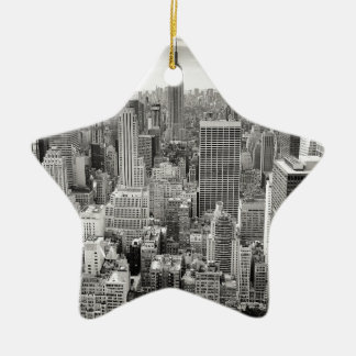 New York 4 Ceramic Star Decoration