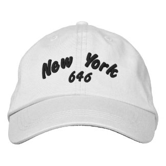 New York 646 area code. Embroidered Cap