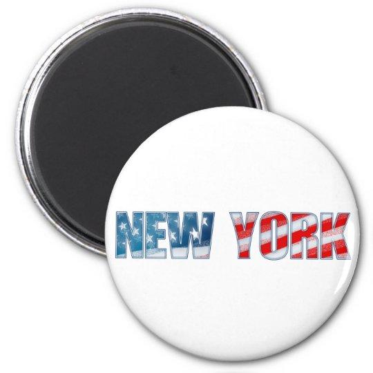 New York 6 Cm Round Magnet