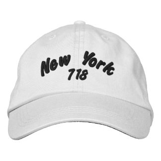New York 718 area code. Embroidered Hat