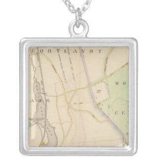 New York 9 Silver Plated Necklace